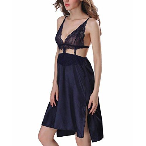 Donne con Lingerie Blu Vestito Bambole Delle Vestiti Lacci i Sexy Rcool Scollato Chemises dUCqZwSd