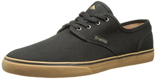 Emerica Men's Wino Cruiser Skateboard Shoe, Black/Gum, 11 M US - Mens Canvas Low Skate Shoe