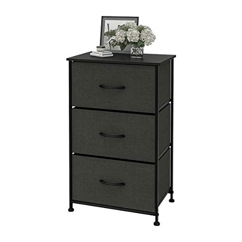 WLIVE 3 Drawers Dresser Storage Organizer Unit for Bedroom, Hallway, Entryway, Closets