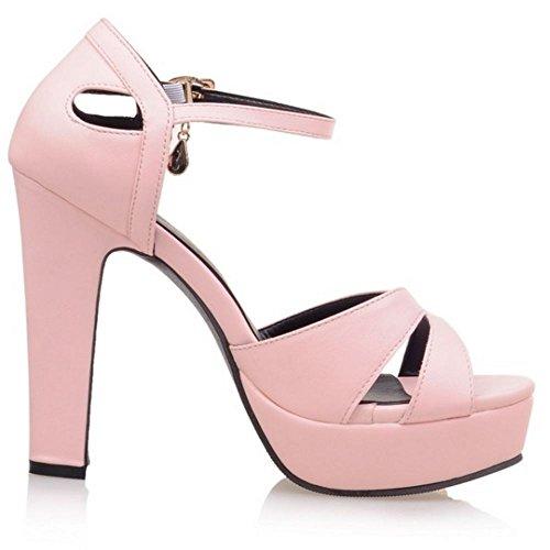 Coolcept - Zapatos con tacón mujer Rosado