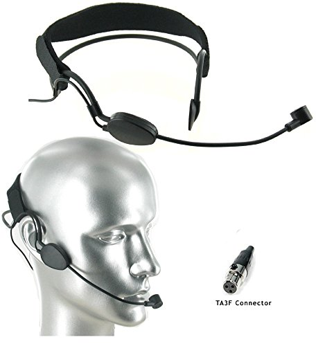 AV-JEFE CM518 Pro Noise Cancelling Headset Microphone w Mini 3 Pin Connector for AKG Wireless Systems