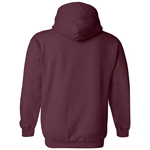 AH01 - University of Chicago Phoenix Basic Block Hoodie - X-Large - Maroon by UGP Campus Apparel (Image #1)