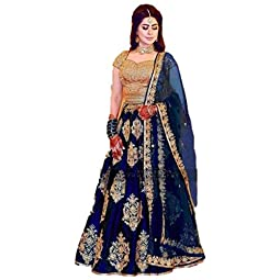 Suppar Sleave Women's Tafetta Silk Lehenga Choli