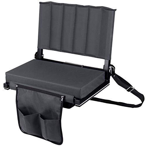 Leader Accessories Wide Padded Folding Stadium Chair/Stadium Seat for ()