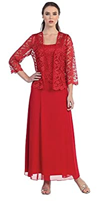 Love My Seamless Womens Long Mother Of The Bride Evening Formal Lace Dress With Jacket