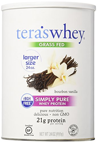 Tera's Whey Simply Pure Protein, Low Carb Grass Fed Clean Whey Protein, Bourbon Vanilla, 24 (Whey 24 Protein Powder)