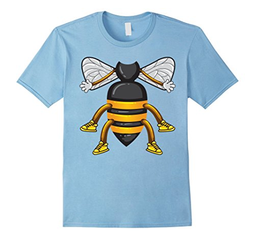 Mens Funny Honeybee Costume Shirt - Hilarious Bee Halloween Gift 2XL Baby Blue