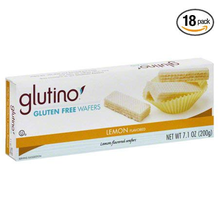 Glutino Gluten Free Wafer Cookies Lemon, 7.10 oz - Pack of 18 by Glutino