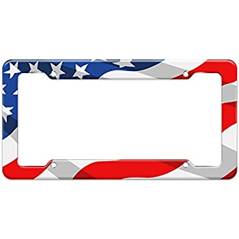 fc941d53ca6 Graphics and More Blank United States Patriotic Flag Pattern License Plate  Frame