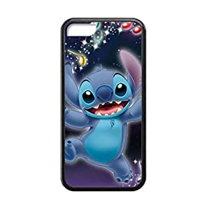 Black, 5C Case - Lilo And Stitch Ohana Character Photo Design Durable Rubber Tpu Silicone Case Cover For Apple iPhone 5C
