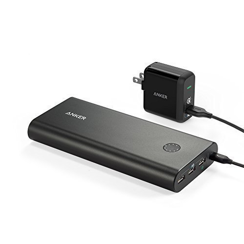 Anker PowerCore+ 26800 Power Bank with Qualcomm Quick 2.0 and PowerPort+ 1 with Quick Charge 3.0 Wall Charger