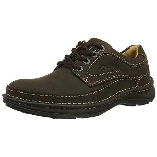 Find Zapatos de Cuero con Cordones para Hombre, Negro (Black), 42 EU