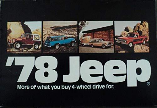 1978 JEEP FULL-LINE; CJ-5/CJ-7, CHEROKEE, WAGONEER & PICKUP VINTAGE COLOR SALES BROCHURE/MAILER - USA - BEAUTIFUL ORIGINAL !!