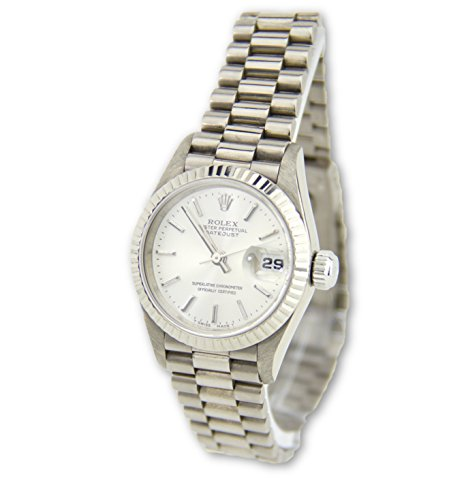 Rolex Datejust 18k White Gold President Women's Watch 69179 (Certified Pre-owned) by Rolex