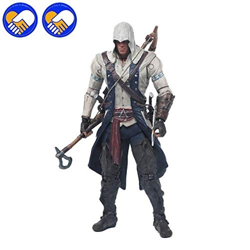 Anime Collectible Action Figure - New Anime Toys AC 3 Connor Kenway Haytham PVC Action Figure Black Flag Edward Kenway ETC Collection Model Best Collection Toys - 17cm-Hat-Connory - -