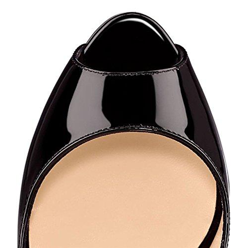negro Emiki Zapatos de Mujer Tacón wHnZn4qp