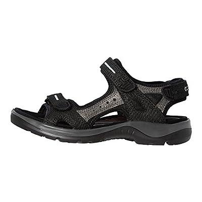 ECCO Womens Yucatan Sandals, Black/Dark Shadow, 38 EU/7-7.5 M US