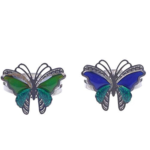 pe Discoloring with Moods Adjustable Ring (Butterfly Mood Ring)
