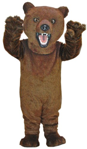 Fierce Grizzly Bear Mascot Costume]()