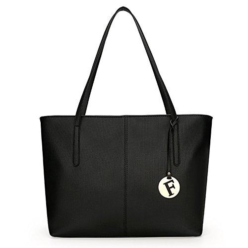 main sac sac à cuir sac Fexkean Noir à mode 3pcs sac sac femme bandoulière pu cuir p6x8Cda