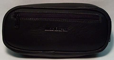 Black Leather Pipe Products Pouch & Pipe Carrying Case Holds 2 oz & 2 Pipes - 2 Oz Pipe Tobacco