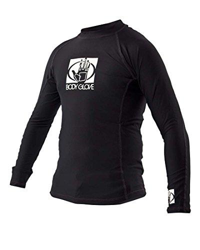 61c595667 Body Glove Junior Basic Fitted Long Arm Rash Guard, Black, Size 14