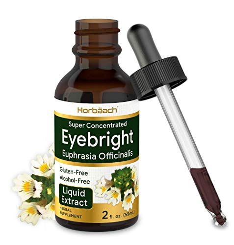 Horbaach Eyebright Herb Extract | 2 oz | Alcohol Free | Super Concentrated | Vegetarian, Non-GMO, Gluten Free Liquid Tincture Supplement Drops