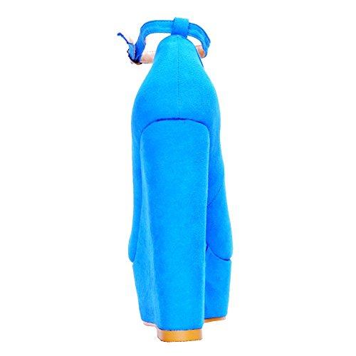 EKS - Zapatos de vestir para mujer Azul