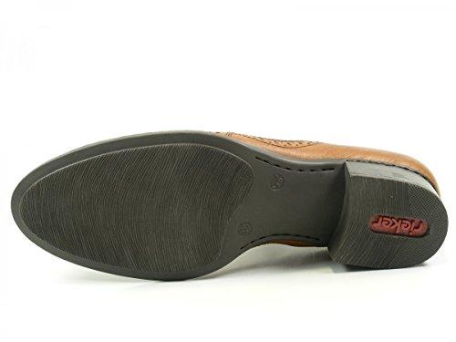 Rieker 53652 Zapatos de material cuero mujer Braun