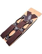 COMVIP - Tirantes para camisas de vestir resistentes en forma de Y con 6 clips