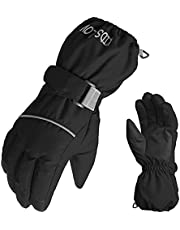 Abarich Kids Snow Ski Gloves Waterproof & Windproof Winter Gloves Thermal Gloves Outdoor Full-Finger Mittens Cold Weather Hand Warmers for Skiing Running Cycling