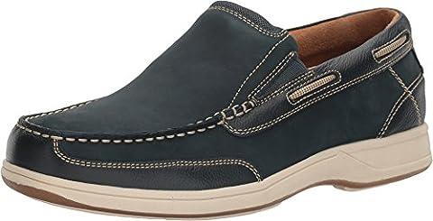 Florsheim Men's Marina Slip Moc Toe Shoe,Navy Suede,US 8.5 M - Classic Moc Slip