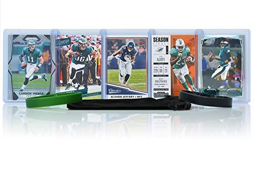 (Philadelphia Eagles Cards: Carson Wentz, Nick Foles, Alshon Jeffery, Jay Ajayi, Zach Ertz ASSORTED Trading Cards and Wristbands Bundle)