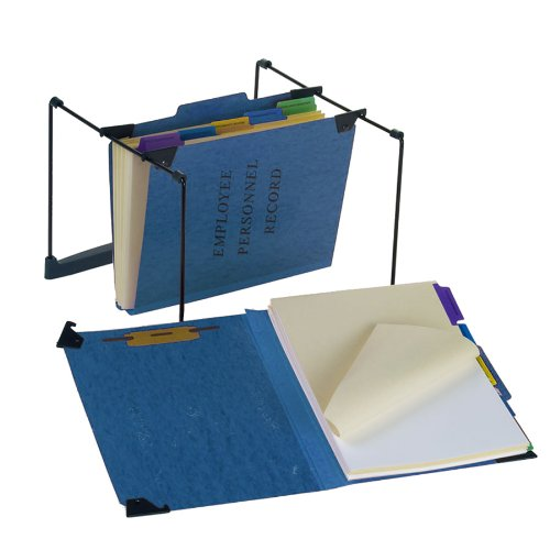 Pendaflex SER-2-BL Hanging Personnel Folders, 1/3 Cut, Top Tab, Letter, Blue