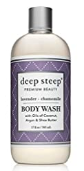Deep Steep Body Wash Lavender Chamomile Natural 17 Ounce