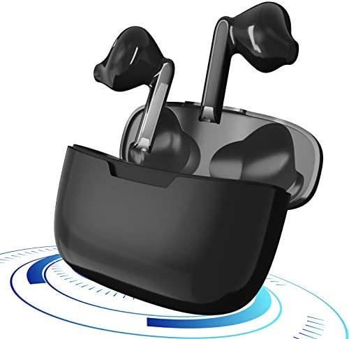Wireless Earbuds Bluetooth 5.1 Headphones IPX7 Waterproof Earbuds with 24Hrs Mini Charging Case, 3-d Stereo Headsets in-Ear Built in Mic Headset, Compatible with iPhone Android Airpods Pro (Black)