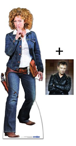 FAN PACK - PROFESSOR RIVER SONG COWGIRL OUTFIT (ALEX KINGSTON) - BBC DOCTOR WHO / DR WHO / DR. WHO - LIFESIZE CARDBOARD CUTOUT (STANDEE / STANDUP) - INCLUDES 8X10 (25X20CM) STAR PHOTO - FAN PACK #194 ()