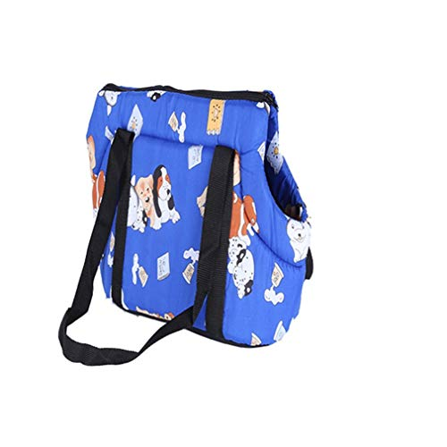 (FR6RFS All Seasons Portable Small Medium Pet Dog Puppy Cat Travel Outdoor Carrier Carry Tote Bag H Bag Purse Blue S)