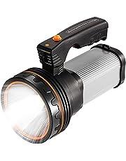 Oplaadbare zaklamp, 7000 lumen, led, 6000 mAh, draagbaar, waterdicht, super helder, met USB-uitgang zoals powerbank