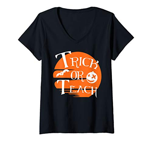 Womens Trick Or Teach Teacher Halloween School Gifts