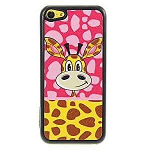 HP Giraffe in Pink Background Head Pattern Shimmering PC Hard Case for iPhone 5C