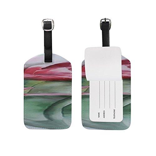 Watercolour Painting Art Geranium Geraniums Bloom PatternSuitcase Luggage Tags