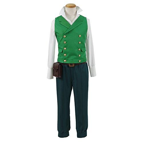 Men's V-neck Sleeveless Button Down Suit Green Vest Waistcoat Halloween Costume (XXL) (He Man Costume Kids)
