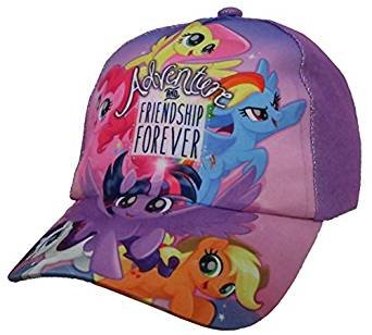 Hasbro My Little Pony Family Purple Baseball Cap - Size Girls 4-7 [6014] -