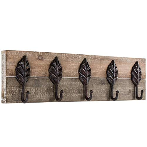 Loon Peak Brown 5-Hook Wall Mounted Wood/Metal Coat Rack + Free Basic Design Concepts Expert Guide