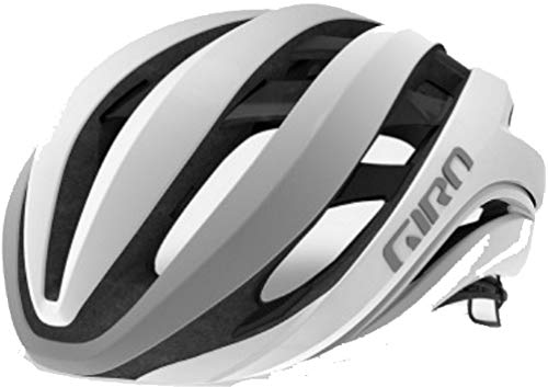 Giro Aether MIPS Cycling Helmet - Matte White/Silver Large (Best Mips Road Bike Helmet)