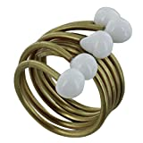 Les Poulettes Jewels - Brass Ring Glass Paste Pearl - Classics - White