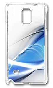 Adorable Clean Wave Cold Hard Case Protective Shell Cell Phone HTC One M8 - PC Transparent