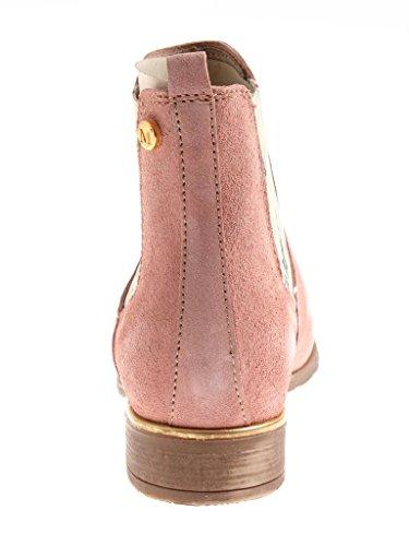 Femmes Chelsea Chaussures Cuir en Bottines Rose Bottines Kathamag d'été Chaussures ZYxAqw66td