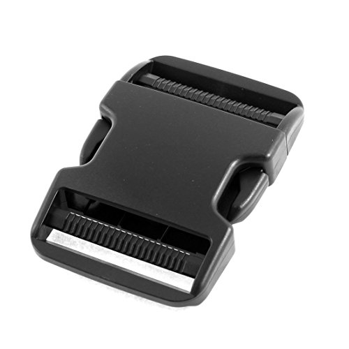 Plastic Clasp Side Release Buckle 2 Inches Webbing Strap Black (2